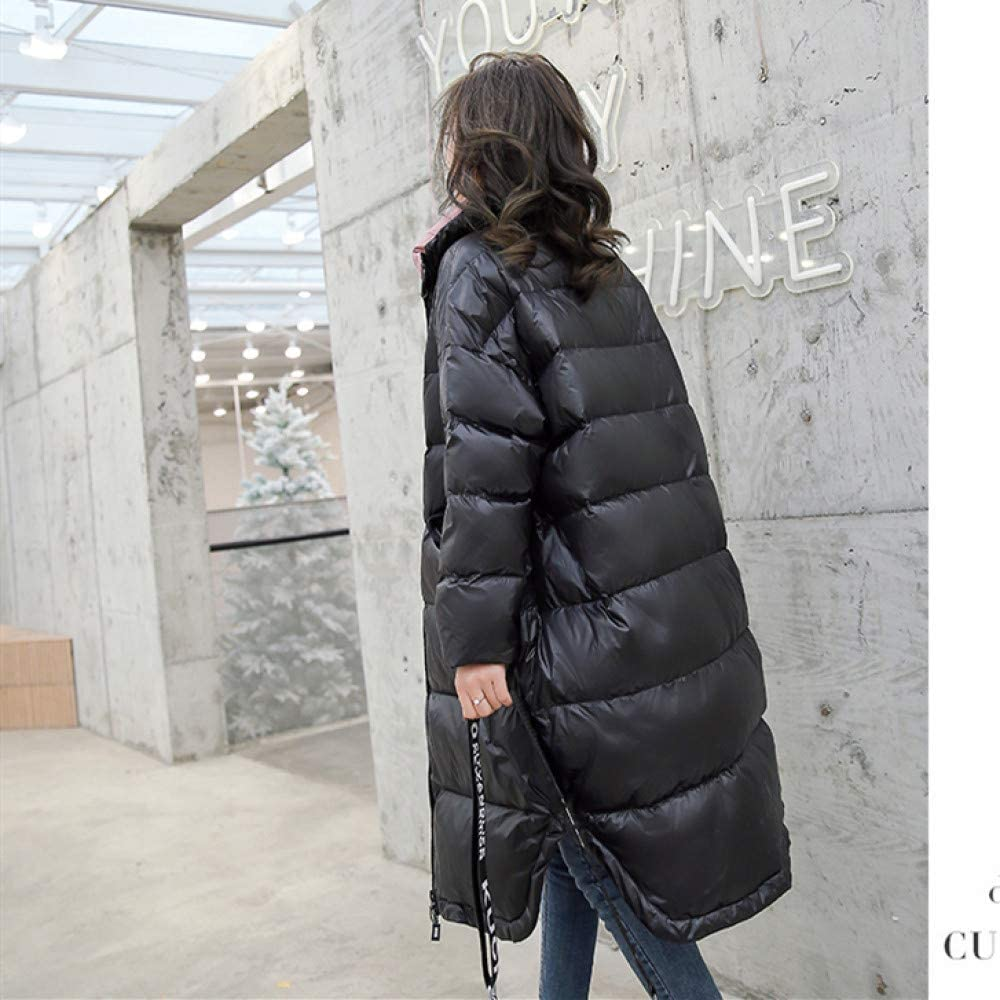 YRFDM Chaqueta de Plumas,2019 Winter Ultra Light White Down Jacket Mujeres Down Long Coat Parkas Mujer Warm Parkas Windproof Snow Outwear