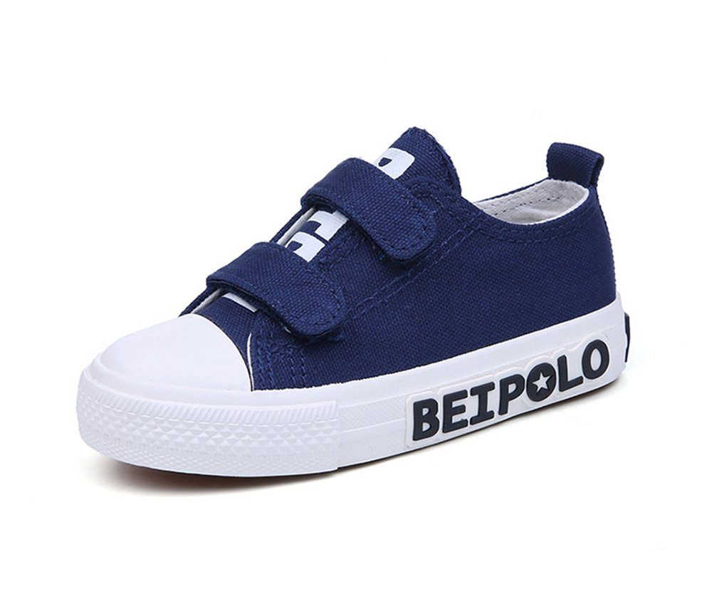 Boy's Girl's Athletic Easy Strap School Loafers Sneakers Shoes (Toddler/Little Kid/Big Kid)(Blue-13 Little Kid)