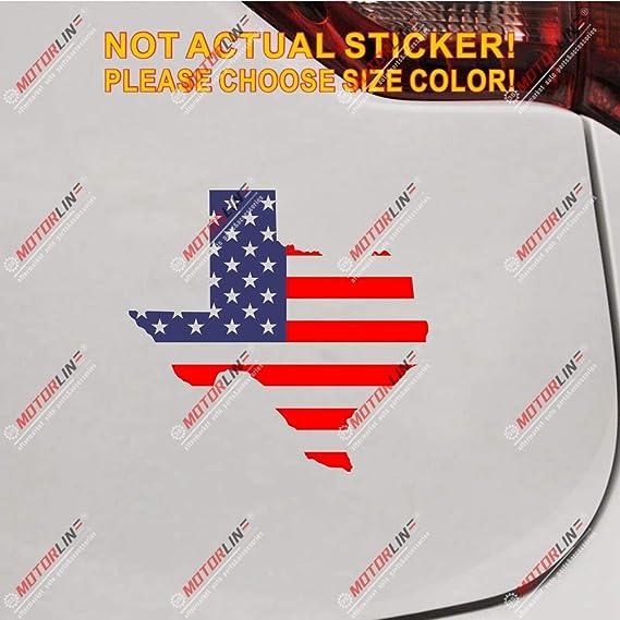 3S MOTORLINE 6 Gold Texas State Seal Decal Sticker Car Vinyl American State TX die Cut no Background