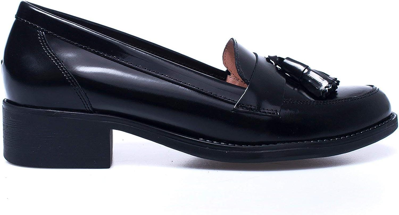 Castellano Zapato de borlas Negro con tacón: Amazon.es: Zapatos y complementos