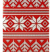 "Christmas Star Kraft Gift Wrap Flat Sheet 24"" X 6'"