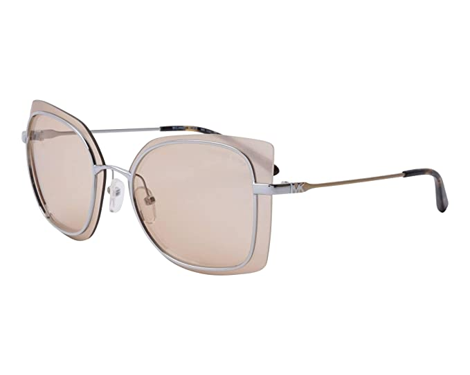 Michael Kors 0MK1040, Gafas de Sol para Mujer, Shiny Silver, 62