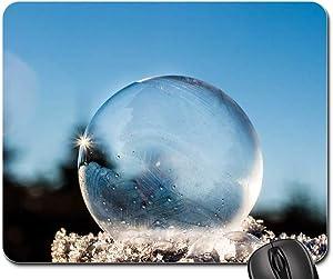 Mouse Pad - Frozen Bubble Soap Bubble Frozen Winter Sunbeam 1