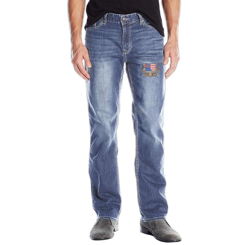 Donkey Armenian Shield Flag RoyalBlue Any Season Men Jeans