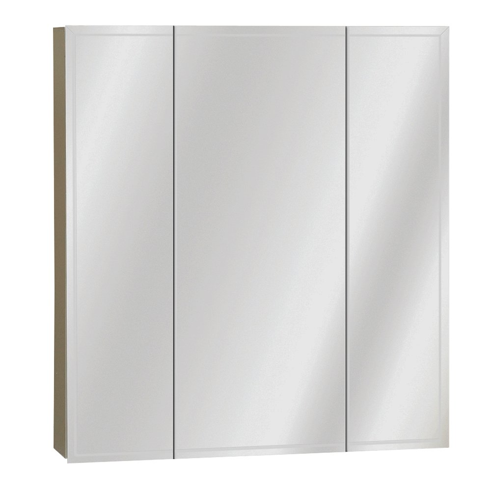Amazon.com: Zenith M24, Beveled Tri View Medicine Cabinet, Frameless: Home  U0026 Kitchen