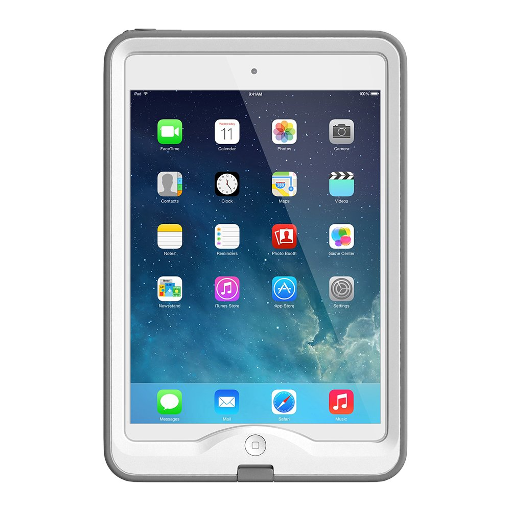 new concept f5cff b6020 LifeProof Nuud 2305-02 Waterproof Case for iPad Mini Retina - Retail  Packaging - White / Grey - (for iPad Mini 1 and 2 Only)