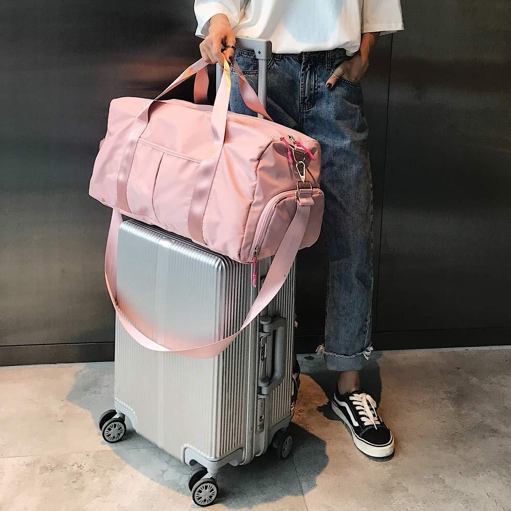 Sports Gym Bag with Shoes Compartment and Wet Pocket Training Handbag Yoga Bag Travel Overnight Weekend Shoulder Tote Bag for Men and Women Multipurpose Daypacks