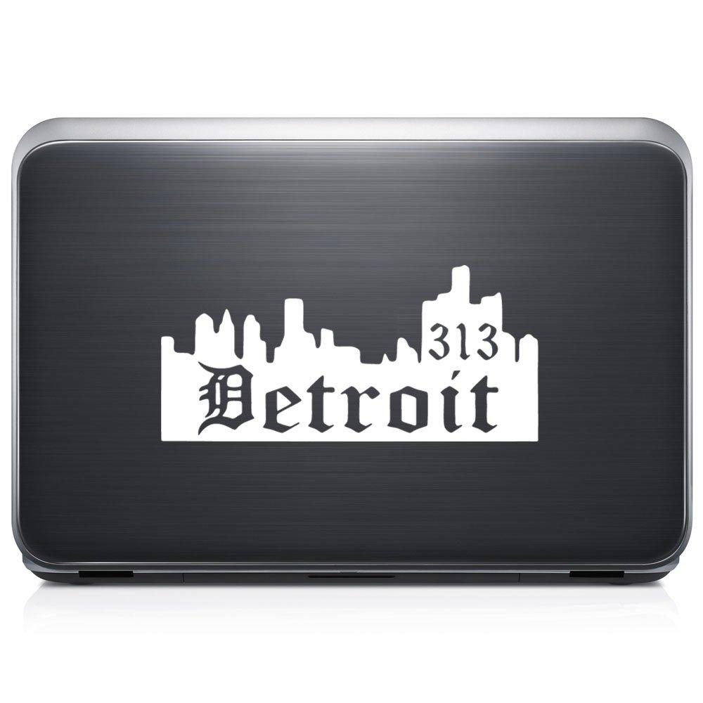 Detroit City 313エリアコードSkyline取り外し可能なビニールデカールステッカーforラップトップタブレットWindows壁装飾車トラックオートバイヘルメット (05 in / 13 cm) Wide RSLO117-05MWH (05 in / 13 cm) Wide マットホワイト B07168VMCL