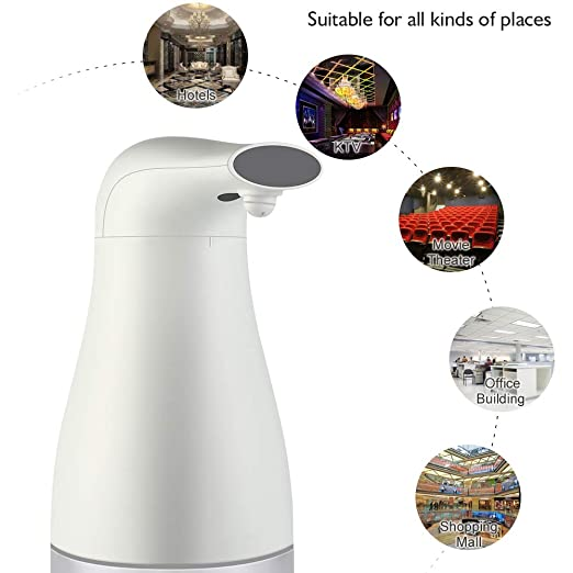 Amazon.com: Automatic Soap Dispenser Touchless 400ml Auto Induction Foaming Hand Washer Touch-less Infrared Sensor Foam Hand Sanitizer Soap Dispenser for ...