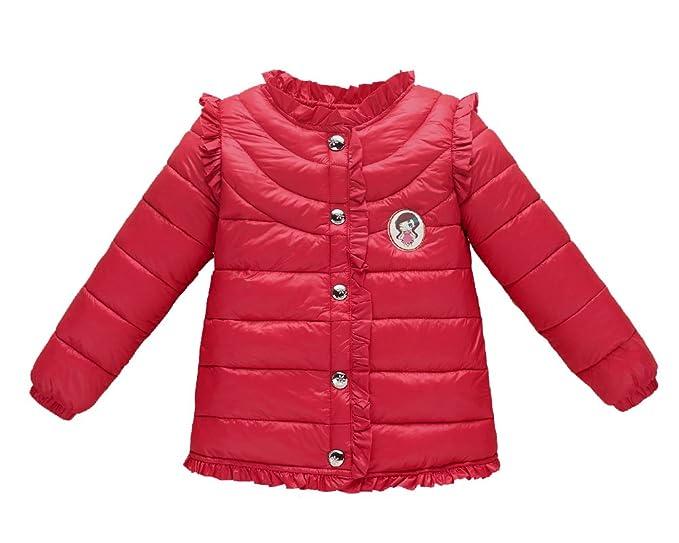 ff221ae88 Chaqueta De Plumas Ligeras Para Niños Cálido Cute Cazadoras Capas Para Niña  Rojo 110