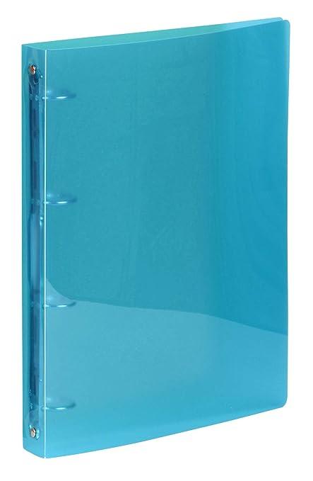 Viquel 218046 – 05 carpeta suave 4 anillas lomo de 35 mm, azul ...