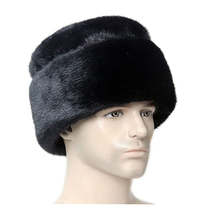 c3264959065 Image Unavailable. Image not available for. Color  Suyu Men s Cossack  Winter Warm Faux Mink Fur Hat