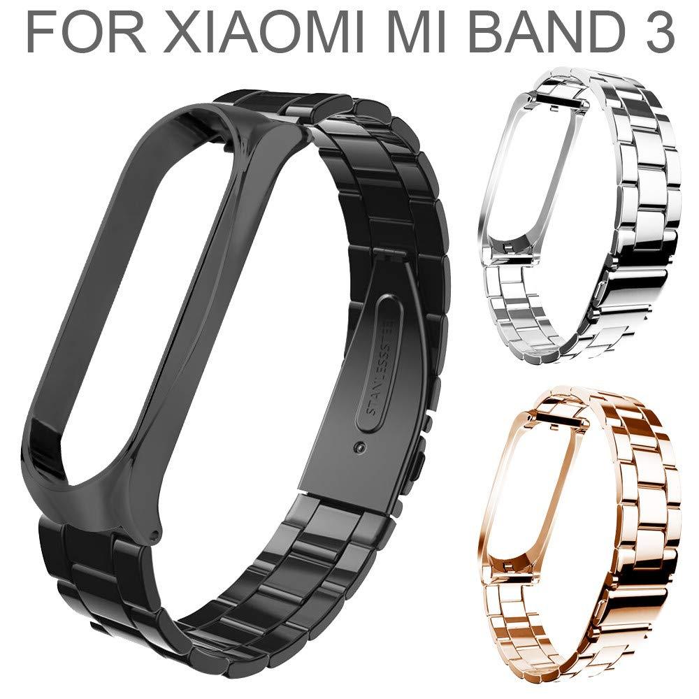 Amazon.com: Barthylomo Xiaomi Mi Band 3 Stainless Steel ...