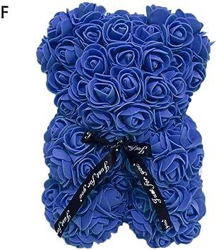 lingzhuo-shop Ours Rose Eternelle Violet Bleu Rouge Poup/ée Simul/ée Fleur PE Rose pour Toujours Artificielle 25cm Perfectionnez pour Le Cadeau danniversaire De Valentines De No/ël