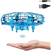 UFO Mini Drone Hand Operated Drones Small UFO Flying Toy With LED Light Hand Controlled Flying Ball Indoor Outdoor…