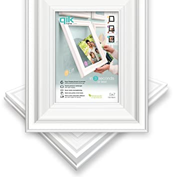 Amazoncom Qik Frame Quick Change Wall Picture Frame 5x7 White