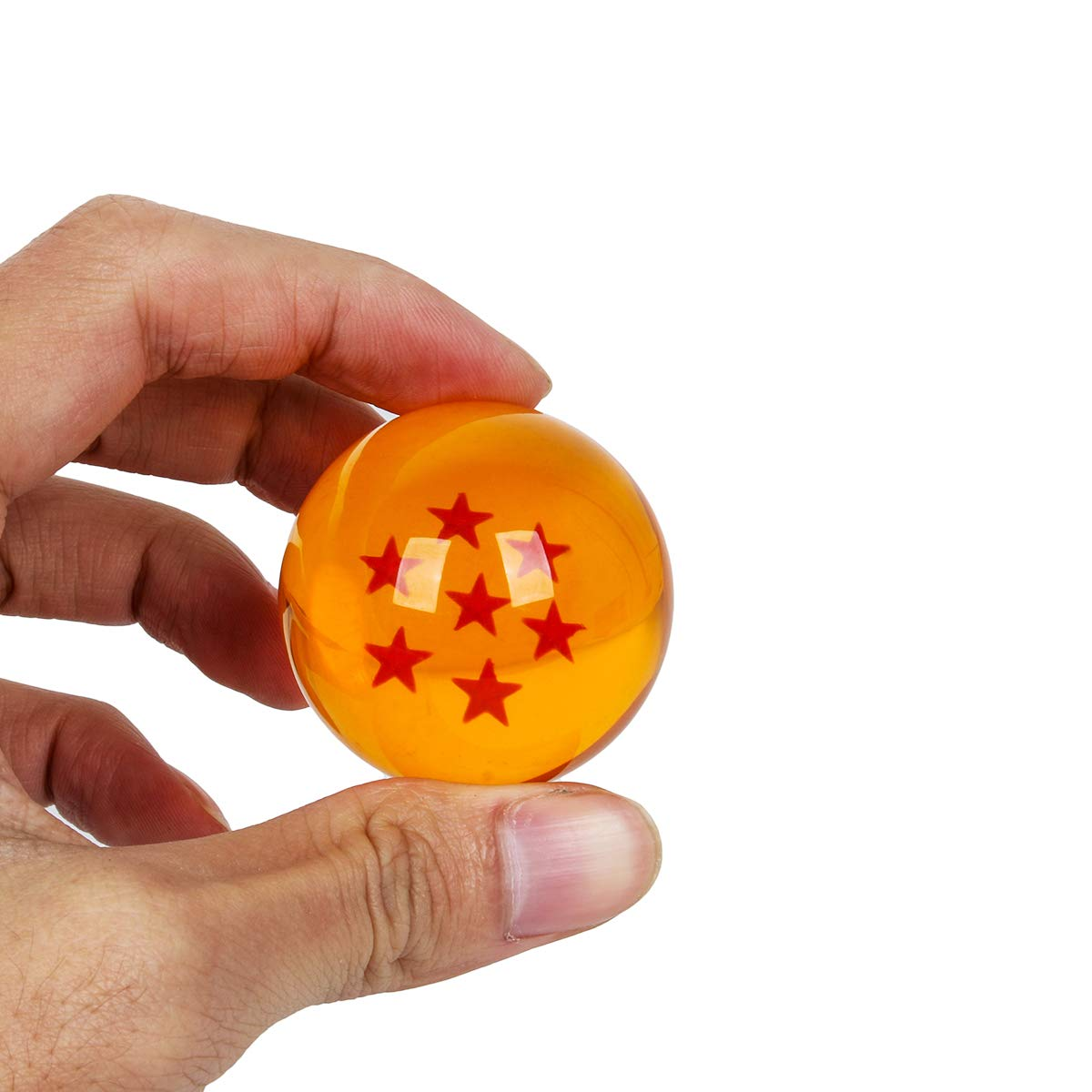 WeizhaonanCos Unisex Acrylic Resin Transparent Stars Balls Glass Ball Dragon Ball Cosplay Props Kids Play Toy Gift Set of 7pcs 43mm/1.7 in in Diameter (Orange) by WeizhaonanCos (Image #5)