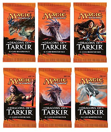 Dragon Booster Pack - 6 (Six) Packs of Magic: the Gathering - MTG: Dragons of Tarkir Booster Pack Lot (6 Packs)