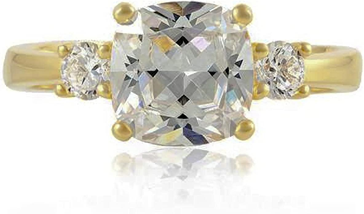 CZ -/R/éplique de la bague de Meghan Markle/-/Bague en argent sterling 925/plaqu/é or Bague de fian/çailles en diamant doxyde de zirconium cubique