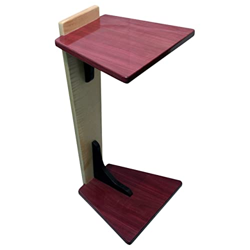 Perching Table   Purple Heart U0026 Curly Maple