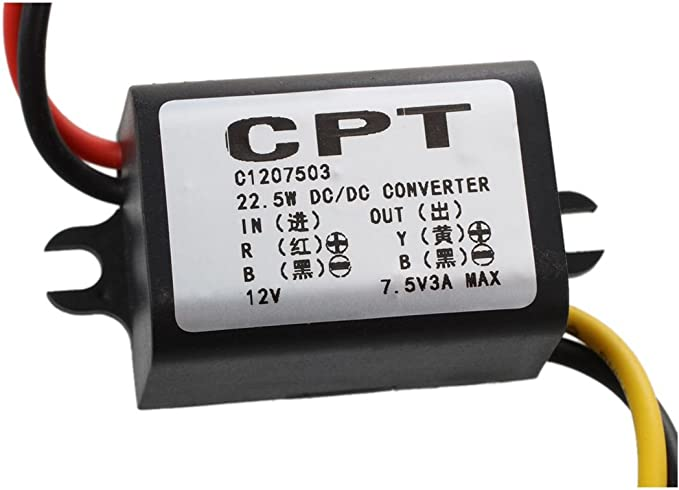 Transformador Convertidor Conversor Adaptador DC-DC 12V a 3.7V para Coche SODIAL R