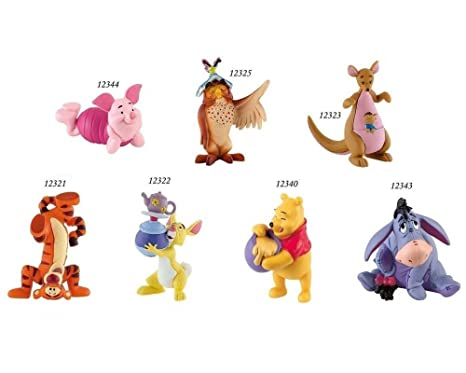dd99756cfd4 Bullyland Disney Winnie the Pooh Playset with 7 handpainted figures ...