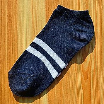 Liuxc Calcetines Calcetines para Hombres Calcetines para Hombres de Negocios Calcetines Casuales de Algodón Barras paralelas