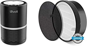 LEVOIT Air Purifiers for Home Allergies and Pets, Air Purifier with H13 True HEPA Filter, Black & Air Purifier LV-H132 Replacement Filter, True HEPA and Activated Carbon Filters Set, LV-H132-RF