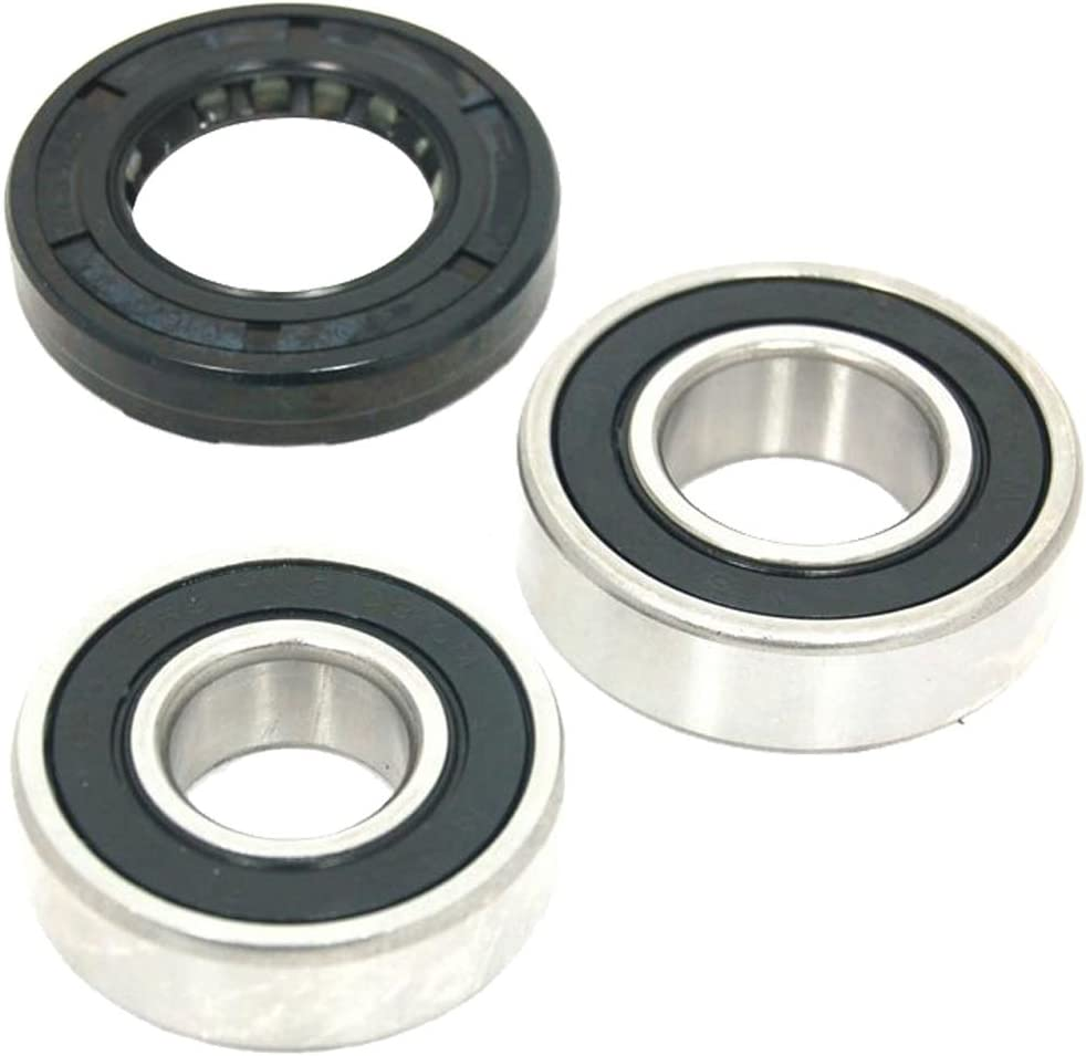 Spares2go Kit de rodamientos de tambor y sellado de aceite para lavadoras Indesit (6204Z y 6205Z)