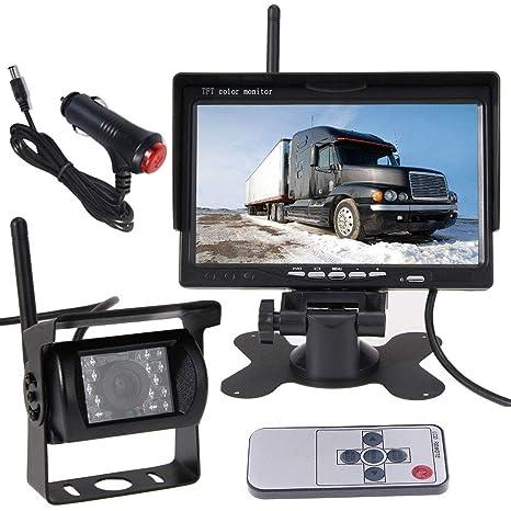 Sistema de monitor de visión trasera para vehículo de cámara de seguridad inalámbrica, 7 inch