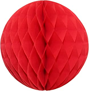 product image for Extra-Large 19 Inch Honeycomb Tissue Paper Ball Decoration, Red (1 Ball)
