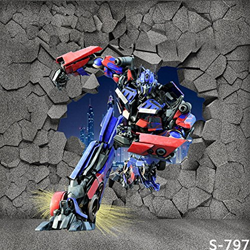 GladsBuy Transformer Breaking The Wall 6' x 6' Computer Printed Photography Backdrop Other Theme Background S-797 ()