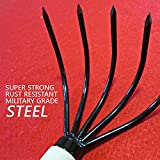 Gardeners-Claw-Rake-Military-Grade-Steel-5-Tines-and-Prime-Wood-Japanese-Ninja-Claw-Garden-Rake-Cultivator-for-Perfect-Pulverized-and-Aerated-Soil-Ergonomic-Wooden-Handle-for-Firm-Grip