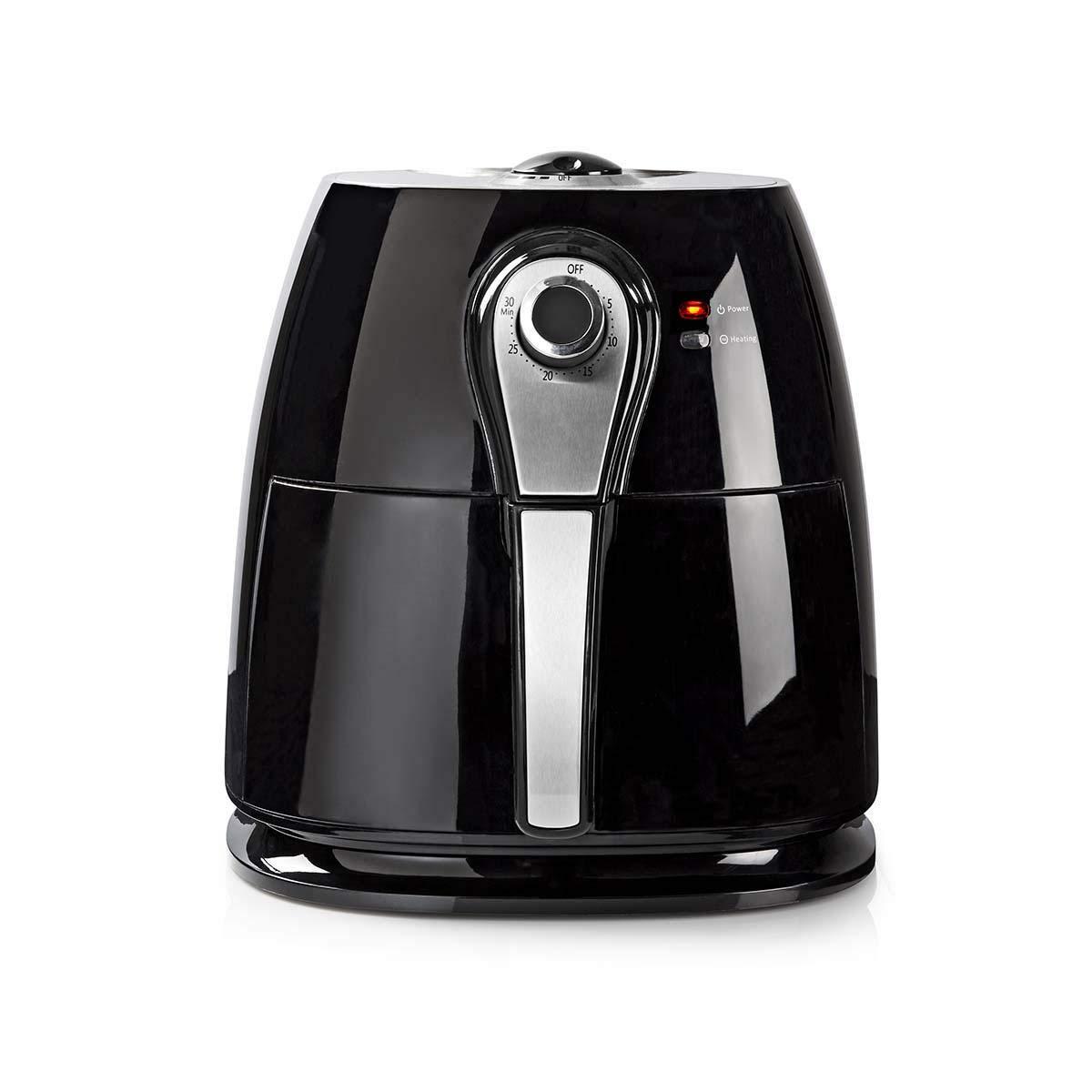 NEDIS KAAF110EBK Freidora de Aire Caliente   3 litros   Temporizador de 30 Minutos   Negro: Amazon.es: Electrónica