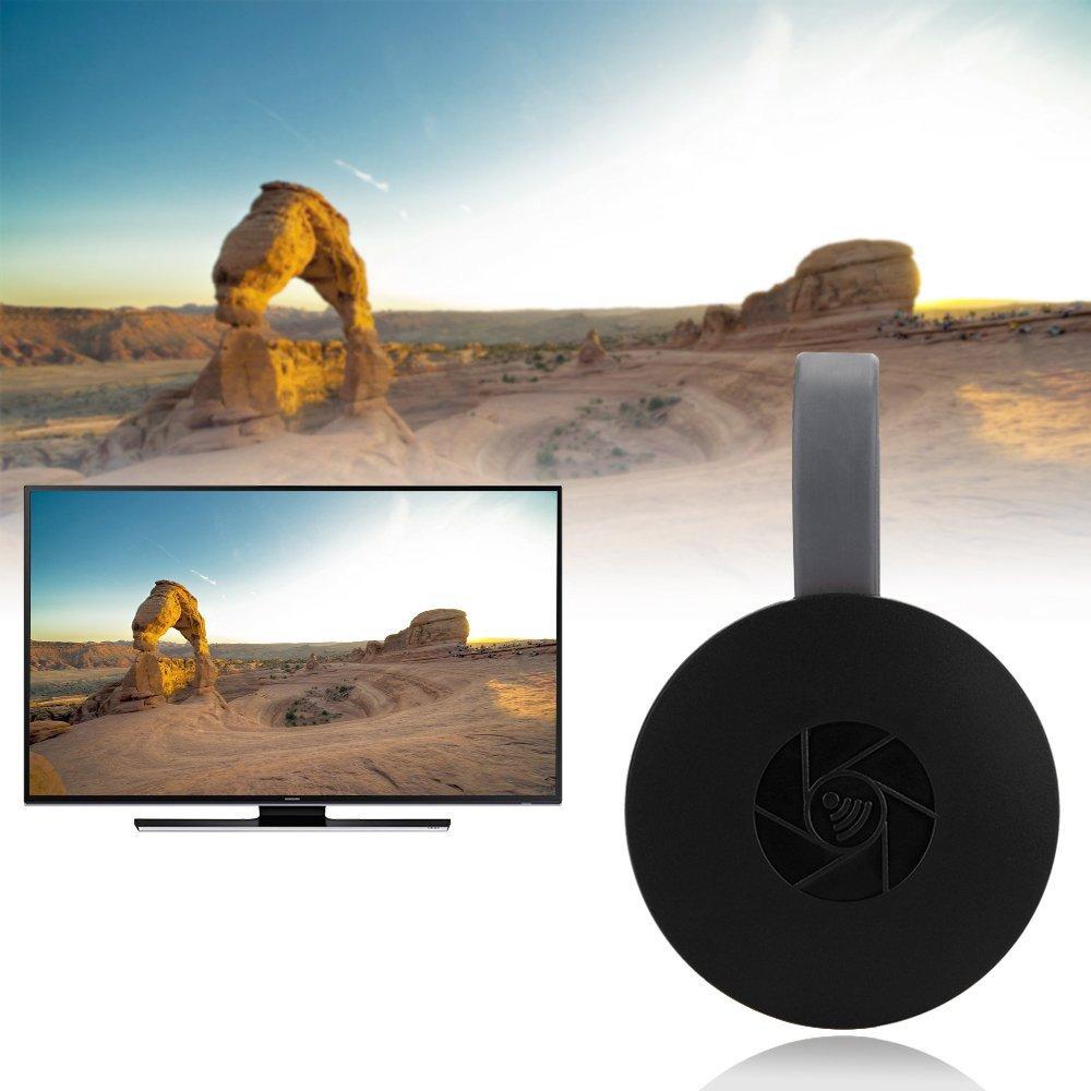Bainuojia Wireless Display Adapter 5 GHz + 2.4 GHz WiFi Dongle HDMI Adaptador de Pantalla 1080P HD Soporte Google Home/DLNA/Airplay/Miracast para MacBook/Android/Windows 8.1/10/iPhone se/7/8/X, iPad