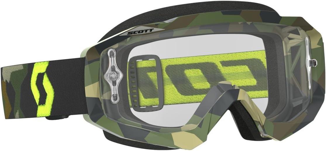 Scott Hustle Mx Goggle Cross Mtb Brille Grau Gelb Klar Works Auto
