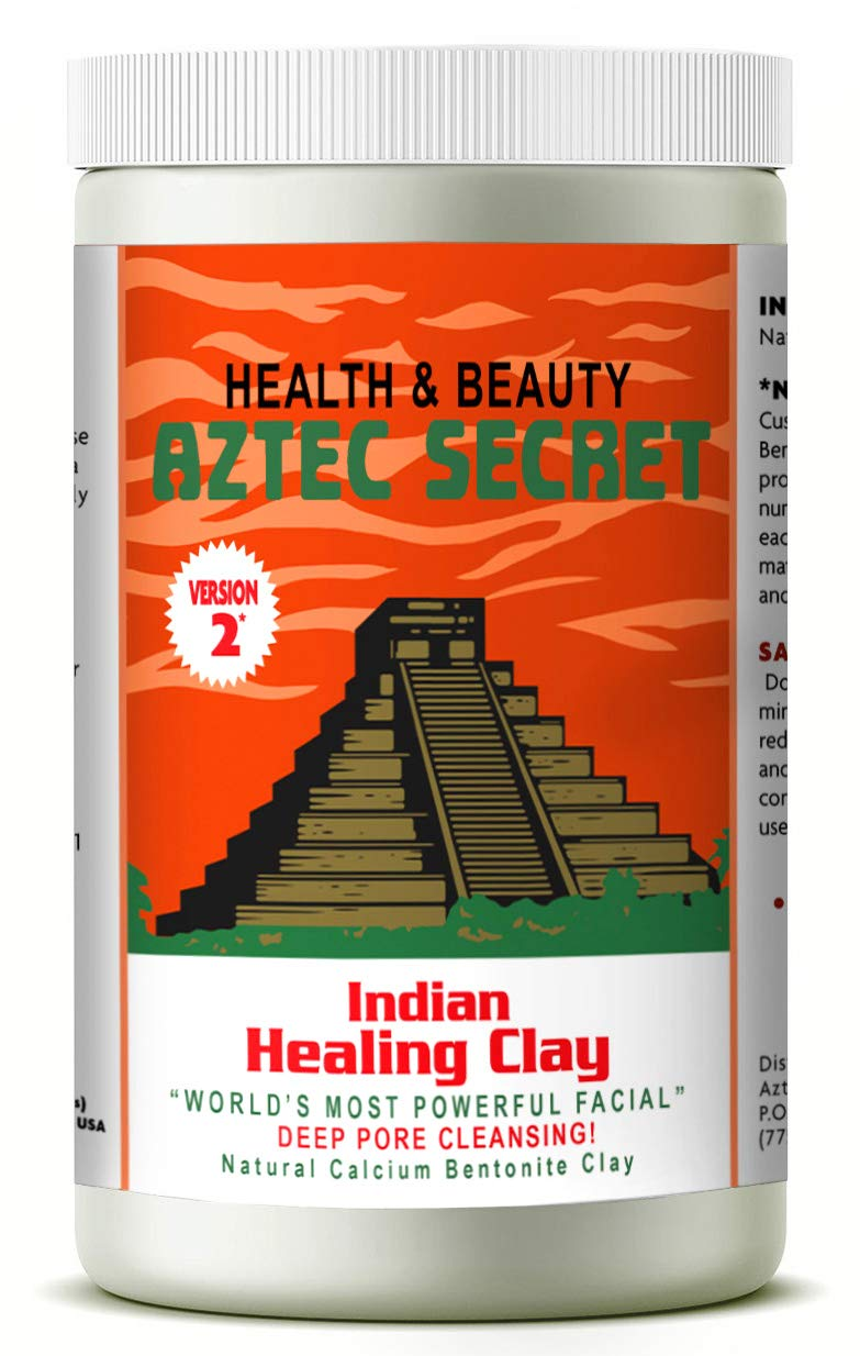 Aztec Secret - Indian Healing Clay - 2 lb. | Deep Pore Cleansing Facial & Body Mask | The Original 100% Natural Calcium Bentonite Clay - New! Version 2 by Aztec Secret