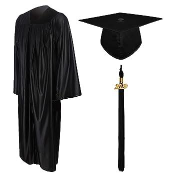 78c357c7243 GraduationMall Shiny Graduation Gown Cap Tassel Set 2019 for High .