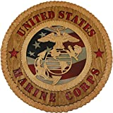 Cheap 11.3″ Marine Large Wooden Plaque With Cloth Flag Background