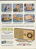 Plays up to 10,000 hours General Electric All-Transistor Pocket Radio ad 1957