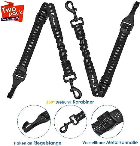 SlowTon Cinturón de Seguridad de Coche, 2 Pack Accesorio de la ...