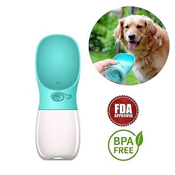 HPASS Botella de agua para perro para caminar, al aire libre, portátil, botella de viaje para ...