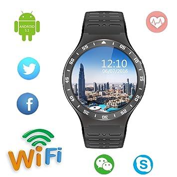Bluetooth Smart Watch, keoker 1.3 inches IPS Round Touch ...