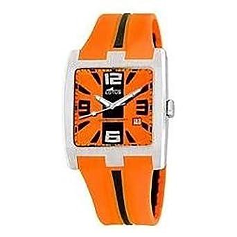 Avec En Silicone Homme Bracelet Seulement Lotus Orange Temps Montre nOk8Pw0