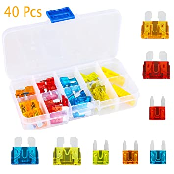 Mini Motorcycle Boat AUTO Blade FUSES Kit Car Fuse  Case Assorted Assortment