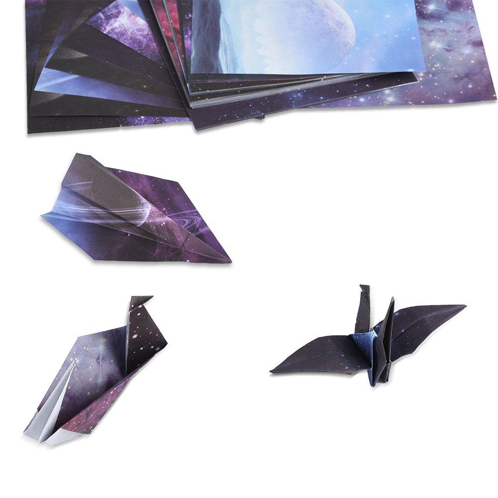 /15/cm x 15/cm 170/Feuilles Couleurs Assorties pour Bricolage Peinture d/écoration/ Cizen Papier pour Origami
