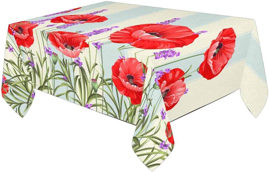 Permin tablecloth 82 x 82 cm poppy