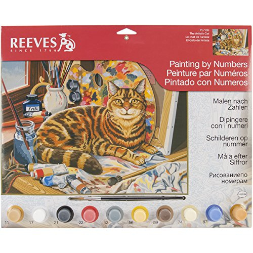 Reeves Resting Cat Acrylic Painting by Numbers Set