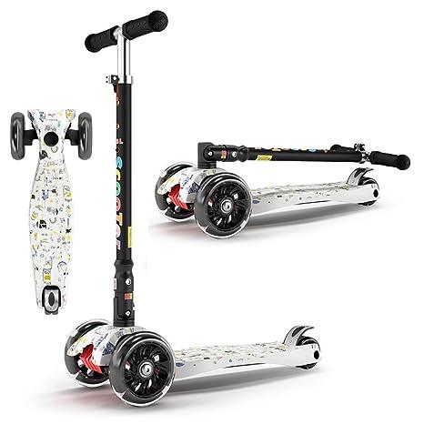TKTTBD Patinete de 3 Ruedas con Diseño Scooter Plegable de ...