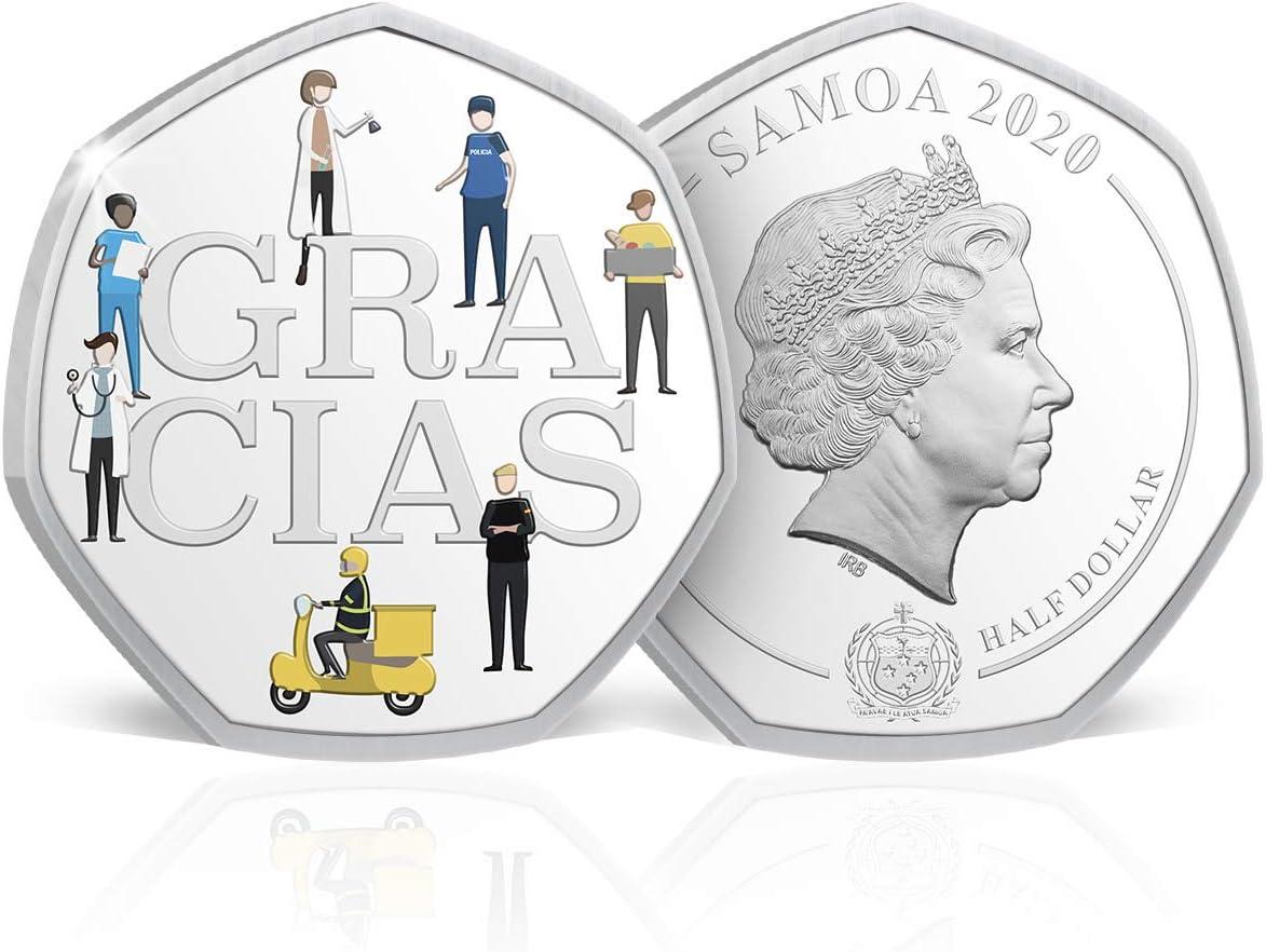 IMPACTO COLECCIONABLES Moneda Solidaria Covid - ¡Gracias! A Todos Nuestros Superhéroes - Moneda Oficial